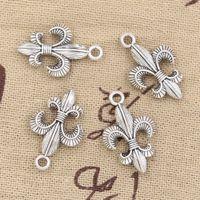100 stücke Charme FLEUR DE LIS 23 * 14mm Antike, zinklegierung anhänger fit, Vintage Tibetischen Silber, DIY für armband halskette