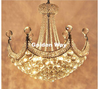 Newly Modern Chrome K9 Crystal Chandelier Lighting D50cm E14...
