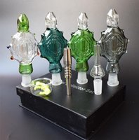 4 farbe neue nc kits glas bongs glas raucher pipes anhänger domeles titanium nagelglas schüssel recycler dab bong öl rig bong