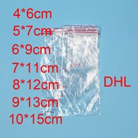 PE Clear Plastic 2C Thickness Bags Zip Locks Ziplock Red Zip...