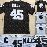 Boobie Miles # 45 Friday Night Lights Filme Jersey Permiano HS Preto Branco Costurado O Filme Dillon Panthers Jersey