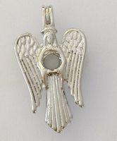18kgp Bogini Pearl / Crystal / Gem Koraliki Klatki Liki, Dziewica Maryja z Angel Wings Style Wish Wisiorek Dla DIY Moda Biżuteria Charms