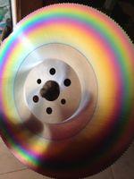 apol 9 inch 250 * 1,0 | 1,2 | 1,6 * 32 HSS-M42 Schnellarbeitsstahl Kreissägeblatt Schneiden Edelstahl spezielle Sägeblattes Schneider Regenbogen
