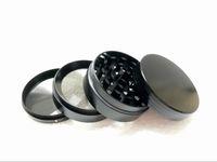 Sekwholesale 50mm 4 bölüm Çinko alaşım tütün öğütücüler, cnc diş metal değirmenleri, siyah / siyah krom / yeşil renkler ot değirmeni