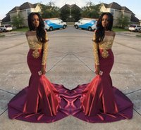 Charming African Style Off Shoulder Prom Dresses 2017 Gold A...