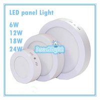 Dimmable 9W 15W 21W 25w Round   Square Led Panel Light Surfa...