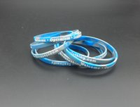 500pcs / lot impresión de pantalla modificado para requisitos particulares barato pulseras de goma del remolino para regalos p012205