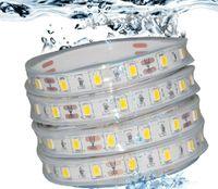 5 M RGB 5050 LED Şerit IP68 Su Geçirmez 12 V 60LED / M Yüzme Havuzu için Sualtı Kullanın Balık Tankı Banyo Açık 44 tuşları Uzaktan Contorller Ile