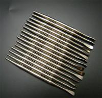 GR2 Titanium Dabber Tool con sfera e scoop per olio cera Titanium Dabble L 110mm