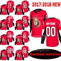 Personalizado 2018 New Ottawa Senators 17 Nate Thompson 30 Andrew Hammond Jersey 7 Kyle Turris 29 Johnny Oduya Homens Alexandre Burrows Hóquei Jerseys