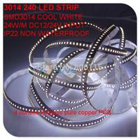 Freies Verschiffen nicht wasserdichtes IP22 LED-Streifenlicht 3014 240led / m 12v / 24v warmes weißes kaltes weißes natürliches weißes rotes grün-blaues 25M
