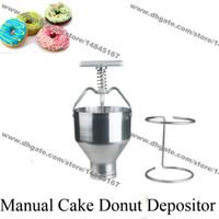 무료 배송 스테인레스 스틸 6L Handheld Medu Vada 케이크 팬케이크 도너츠 도넛 형 적하업자 Dispenser 플런저 호퍼 필러 (홀더 포함)