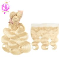 Body Wave #613 Brazilian Human Hair Bundles With lace Fontal...
