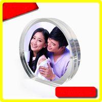 Round Acrylique / Plexiglas Cadres avec des cadeaux Creative magnétiques pour PF006 Special Day