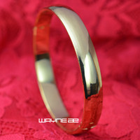 18 Karat Gelbgold GF glattes Armband für Damen G126 60mm x 60mm