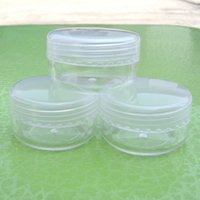 Free shipping Wholesale 10g Plastic Cosmetic Jar clear Trans...