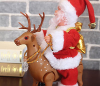 Santa Claus, ride a deer electric music doll toys children g...