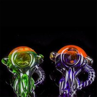 "Smooth Spoon Pipes 3. 5"" inch Glass Pipes Green Blue wit..."