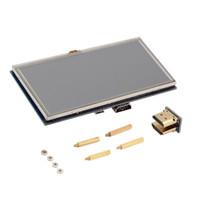 """Al por mayor-5 pulgadas 800x480 pantalla táctil LCD de 5 """"pantalla para Raspberry Pi Pi2 modelo B + A + venta superior caliente"""