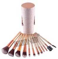10pcs Woman maange Makeup Brushes 12 PCS Cosmetic Set Eyeshadow Blusher Brush kit Black Holder Case Make up Brush Maquiagem 10Sets