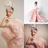 2015 симпатичные розовые оборками свадьба день рождения цветок девушки платья развертки поезд на заказ аппликация девушки конкурс платья