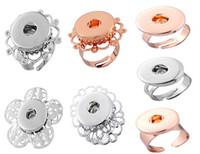 NOOSA bagues Rose or blanc K peut ajuster Noosa fleur anneau bouton bouton pression DIY Bijoux Noosa pour femme 7 style à choisir