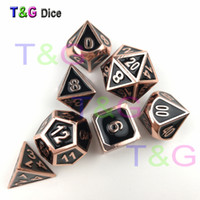 Metal Rose color oro dados con caja para DND Game Kids Birthday Gift