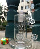 """verre bong JULY new 8.5 """"et 5MM épais Mobius bongs verre huile plate-forme de recyclage recycleur rigs tuyaux d'eau 18.8mm"""