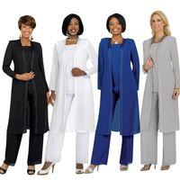 2015 Anne Gelin Damat Elbiseler Ile Pantolon Suits Uzun Kollu Ceket Moda Yaz Özel Anne Elbiseler Boyutu 16 W Suits