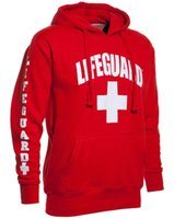 Wholesale- Autumn and winter 3 Side Print Lifeguard man Hood...