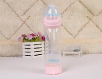 뜨거운 판매 280ml 아기 먹이 병 유아 우유 병 간호 병 아기 워터 컵 아이 실리콘 PP BPA 무료
