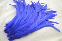 O envio gratuito de 100 pçs / lote 12-14 polegada azul royal COQUE galo cauda pena solto para chapéus cocar