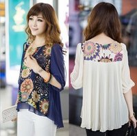 2015 New Spring Summer Chiffon Blouse Women Fashion Casual S...