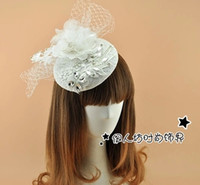 Elegant White Cute Bridal Hats With Veil Clear Rhinestones Crytals Feather Bridal Accessories Wedding Hats 2016 Wholesale Fascinator Hats