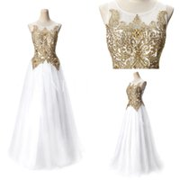 2015 New Arrival Prom Dresses Charming White Jewel Embroidry Crystal Floor Lengnth Evening Party Dresses 2-16 Size RT0001