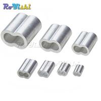 100pcs / lot 1.2 ~ 8.0mm Câble En Aluminium Double Ferrule Câble En Fil De Câble De Barrage