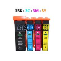12Pack LM100XL LM105XL LM108XL 100XL 105XL 108XL compatibile con cartuccia d'inchiostro con chip per S301 / 302/305 / S405 / 409 / S505 / S605 / S308