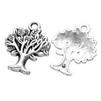 200 pcs antique silver color tree of life charms pendants go...