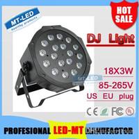X24 unids Al Por Mayor Super brillante de Alta Potencia de alta calidad DMX512 Lámpara Led 18X3W RGB Par Light Led Controlador de Equipos DJ Planos envío gratis