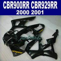 Neu! Passend für HONDA CBR900RR Verkleidungskit CBR929 2000 2001 bodykits CBR 900 RR 00 01 alle glänzenden schwarzen Verkleidungen HB93