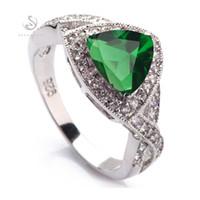 SHUNXUNZE produits de première classe Accessoires anneaux de mariage Bijoux Bohême pour les femmes dropshipping Peridot Zircon rhodié R562
