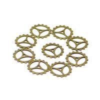 petits types de décoratifs engrenages diy bijoux accessoires crémaillère et pignon connecteurs 22mm en alliage de zinc couleur bronze antique 500pcs / lot YSH0187