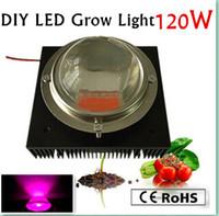 Ny ankomst 120W Full Spectrum LED växer chip, 120W strömförsörjning, kylfläns, fläkt och förare, optisk lins Bygg din egen växande, gratis frakt