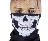 Halloween Scary Maske Festival Schädel Masken Skeleton Outdoor Motorrad Fahrrad Multi Masken Schal Halbe Gesichtsmaske Cap Neck Ghost
