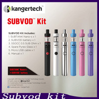 Authentic Kanger Subvod Starter Kit 1300mAh Built In with 1.9ml SSOCC 0.5ohm Subtank Nano-S Atomizer star Preorder 2211046