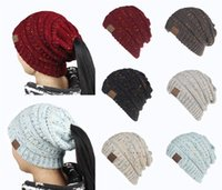 2018 New CC Pony Hats Chunky Knitted Beanies 6 Mixed- Colors ...