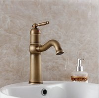 Free shipping luxury antique bathroom faucet, hot and cold ba...