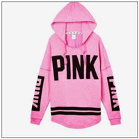 Pink Jackets Love Pink Hoodies Women Pink Sweatshirts Fashio...