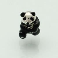 Joyas personalizadas negro panda lindo Animal Europea cuentas metal encanto pulsera de señoras con gran agujero Pandora Chamilia Compatible