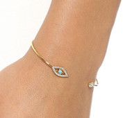 Simple Diamond Fatima Evil Eye Bracelet bangle newest women ...